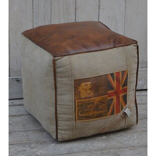 Greenbank Leather Pouf by ..