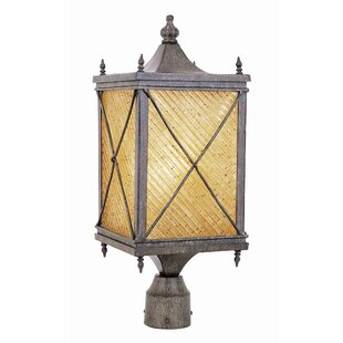 Tucker Exterior Post Lantern in Antique Rust by Charlton Home