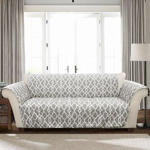 Geo T-Cushion Sofa Slipcover by Charlton Home