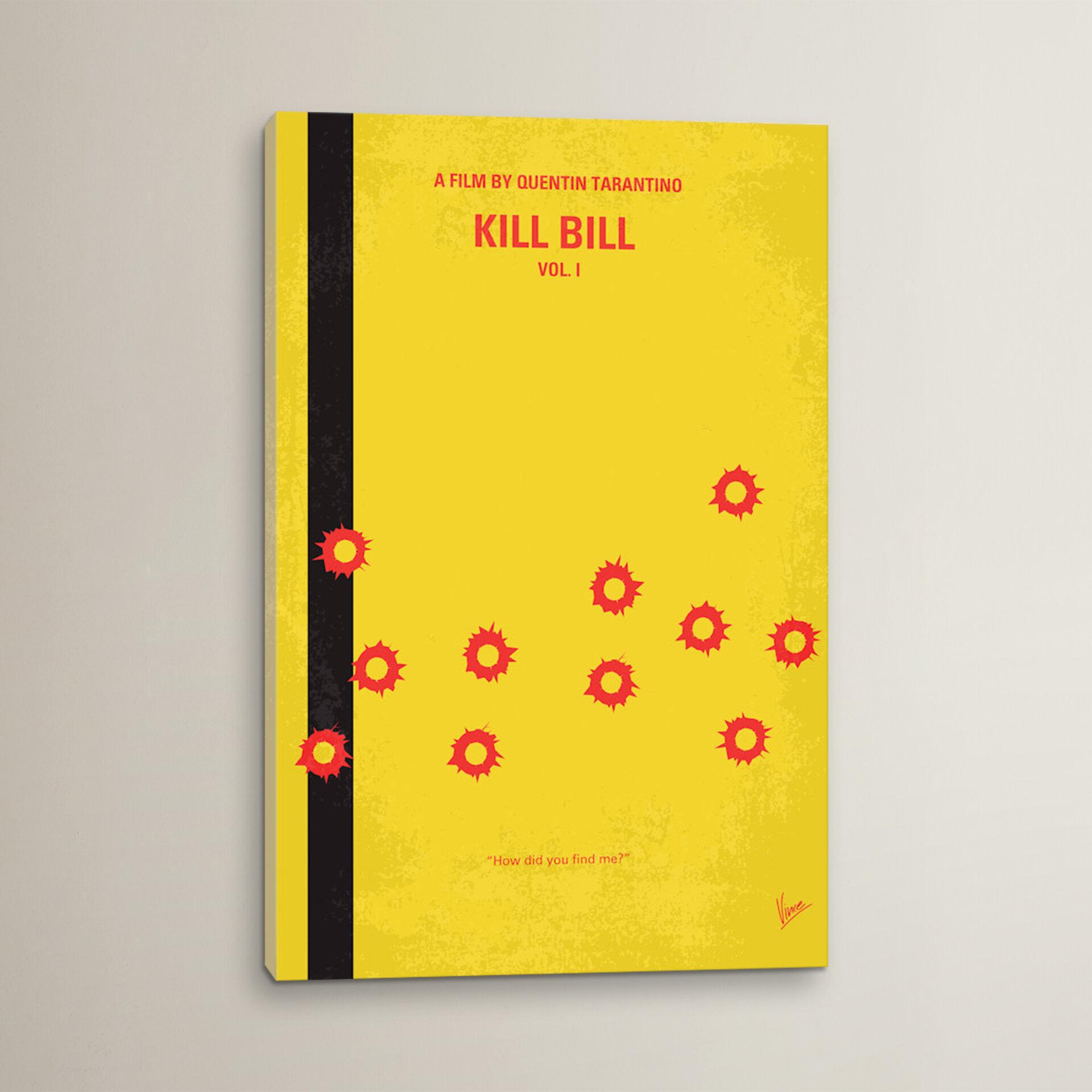 Kill Bill 1 Movie Poster Canvas Picture Art Print Premium Quality