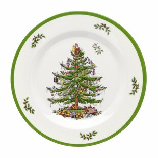 Melamine 8  Salad or Dessert Plate Set of 4  sc 1 st  Wayfair & Christmas Salad u0026 Dessert Plates Youu0027ll Love | Wayfair