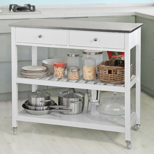 Blossom Kitchen Island With Stainless Steel Top By Belfry Kitchen