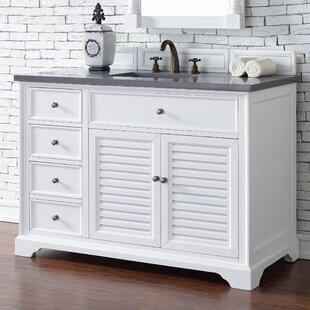 Osmond 48 Single Cottage White Stone Top Bathroom Vanity Set by Greyleigh