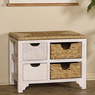 Highland Dunes Gean Wood Storage Bench