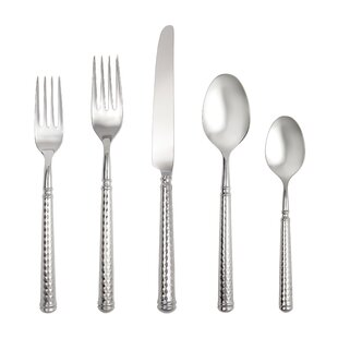 Solitaire Hollow Handle 5 Piece 18/10 Stainless Steel Flatware Set, Service for 1