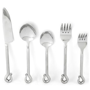 Deangelis 5 Piece Stainless Steel Flatware Set, Service for 1