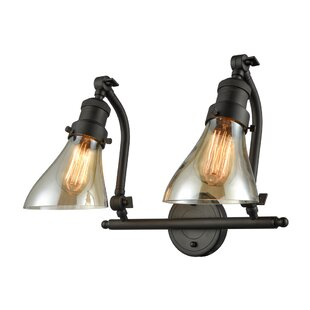 Williston Forge Bonomo Cone 2-Light Vanity Light