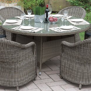 Filippo Wicker Dining Table