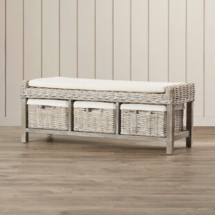 Look for Leighton Wood Storage Bench By Rosecliff Heights