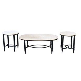 Acantha Iron 3 Piece Coffee Table Set