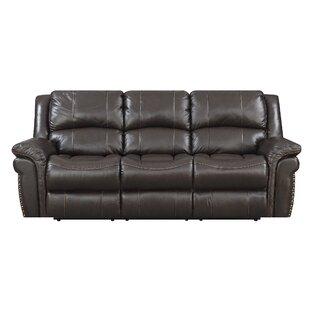 Everardo Leather Reclining Sofa