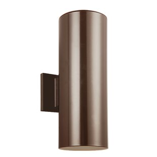 Orren Ellis Leaman 2-Light Outdoor Wall Lantern