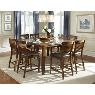 Delphina 9 Piece Counter Height Solid Wood Pub Set by American Heritage Bargain