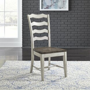 Gilbert Ladder Back Dining Chair (Set of 2) August Grove