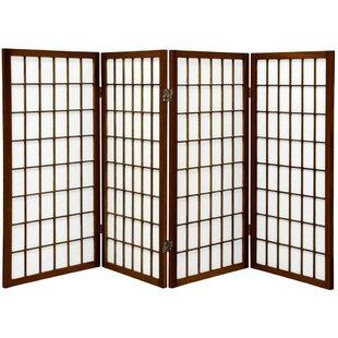 Best Noan Window Pane Shoji 4 Panel Room Divider ByWorld Menagerie