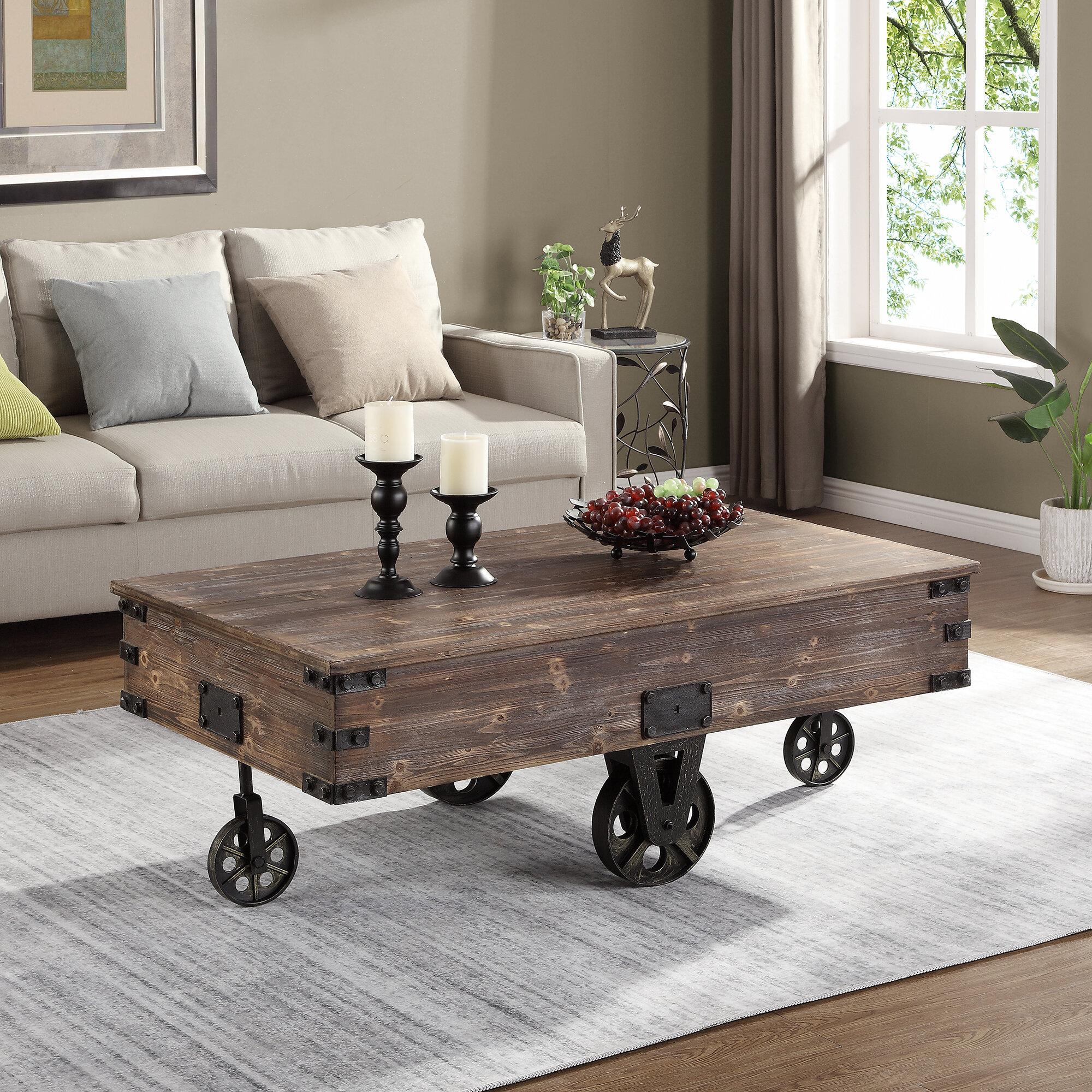 Gracie Oaks Epp Wheel Coffee Table Reviews Wayfair