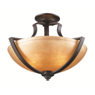 Compare Awrad 2-Light Semi Flush Mount By Bloomsbury Market