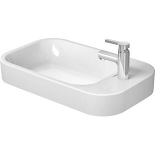 Affordable Price Ceramic Rectangular Vessel Bathroom Sink with Overflow By Duravit