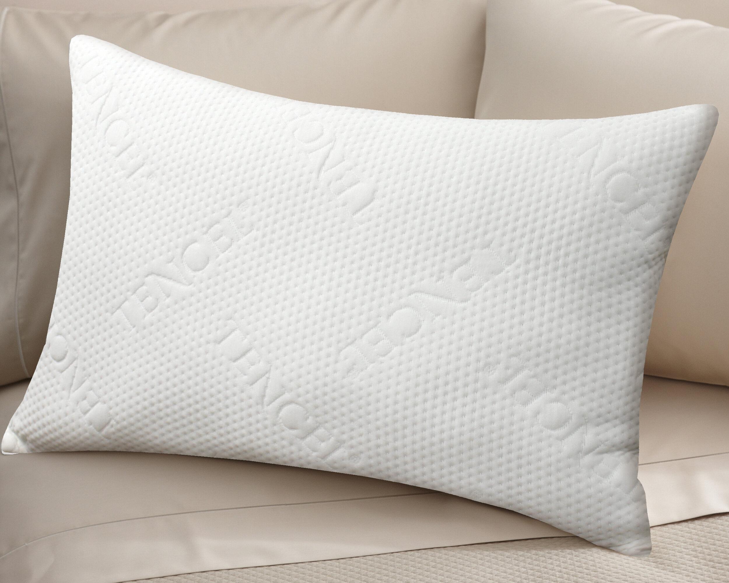 Alwyn Home Davison Tencel Jacquard Medium Polyester Bed Pillow Reviews Wayfair