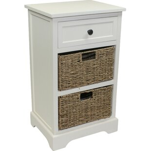 Genial Cream Distressed Furniture 3 Drawer Bedside Table