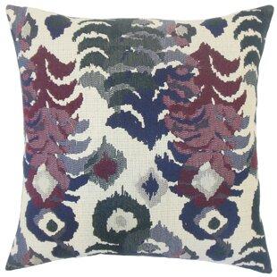 Henriette Ikat Cotton Throw Pillow Cover