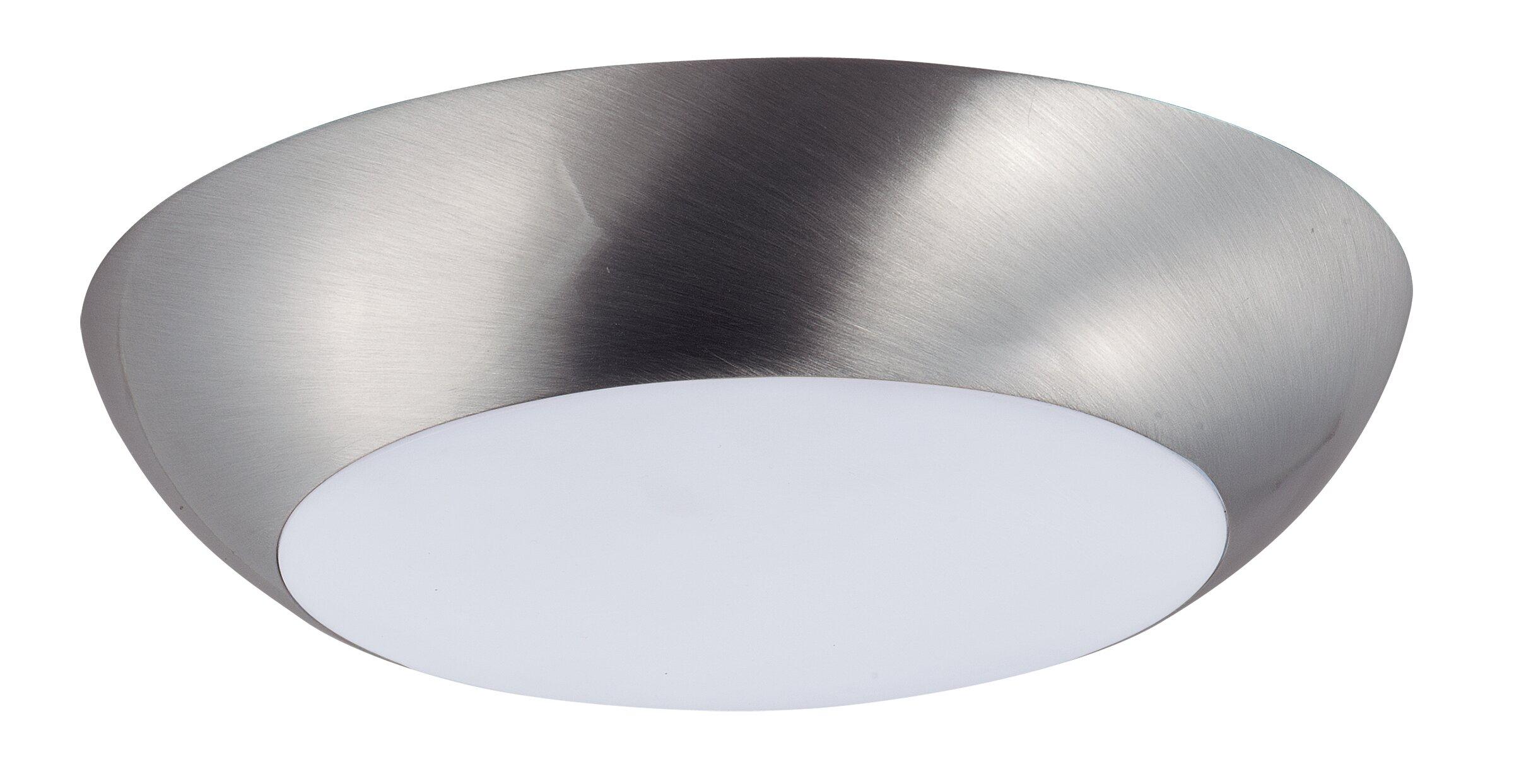 Ebern Designs Lospalmos 1 Light 6 5 Simple Circle Flush Mount Reviews Wayfair