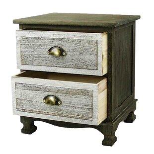 Llanas Storage Paulownia Wood 2 Drawer Nightstand by Millwood Pines