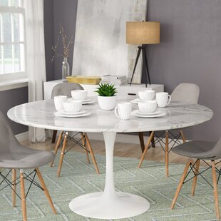 Julien Artificial Marble Round Dining Table by Langley Street Great price