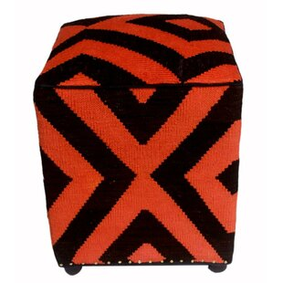 Renville Kilim Cube Ottoman by World Menagerie