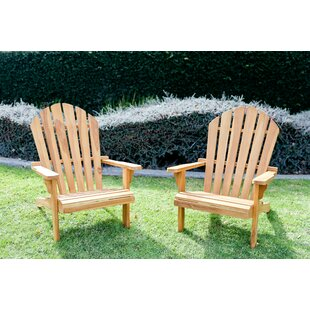 Mercedes Teak Adirondack Chair (Set of 2) by Loon Peak