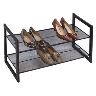Check Prices Flat 2-Tier 8 Pair Stackable Shoe Rack By Richards Homewares