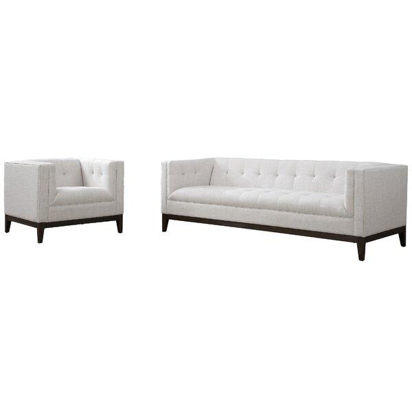 Abington Linen 2 Piece Standard Living Room Set Reviews Allmodern