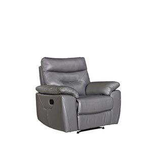 Tania Leather Manual Recliner By Ebern Designs