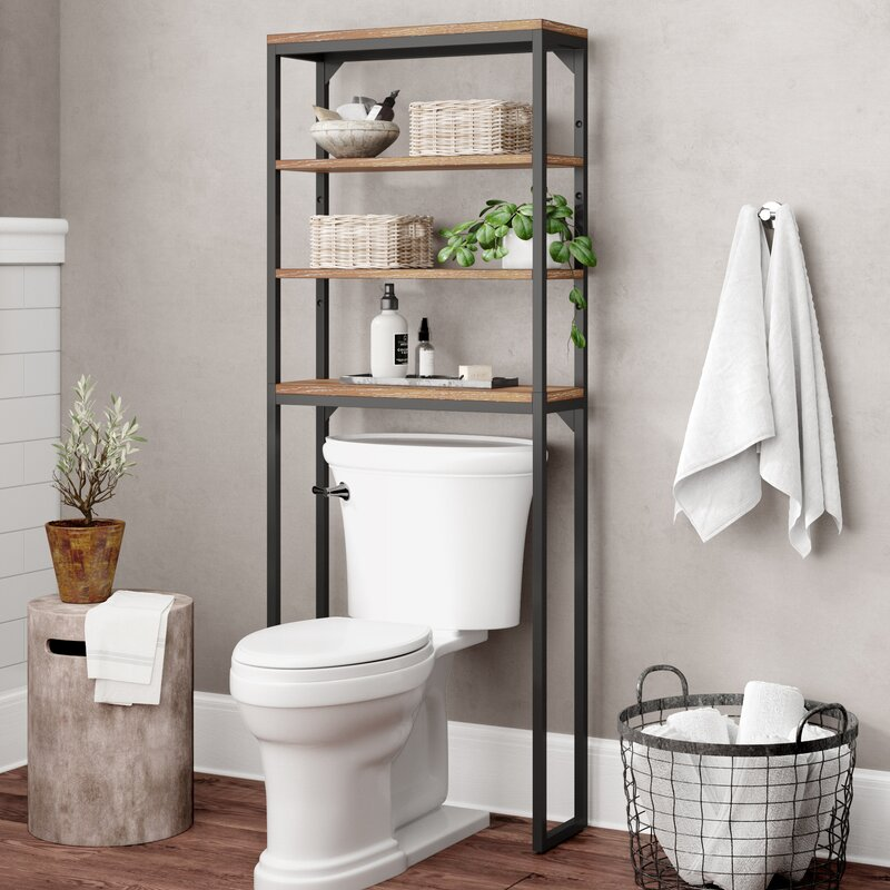 17 Stories Eckles 25 W X 64 H Over The Toilet Storage Reviews Wayfair