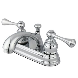 Vintage Centerset Bathroom Faucet with ABS Pop-Up Drain