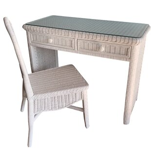 Nahua Desk With Chair by Bay Isle Home Savings