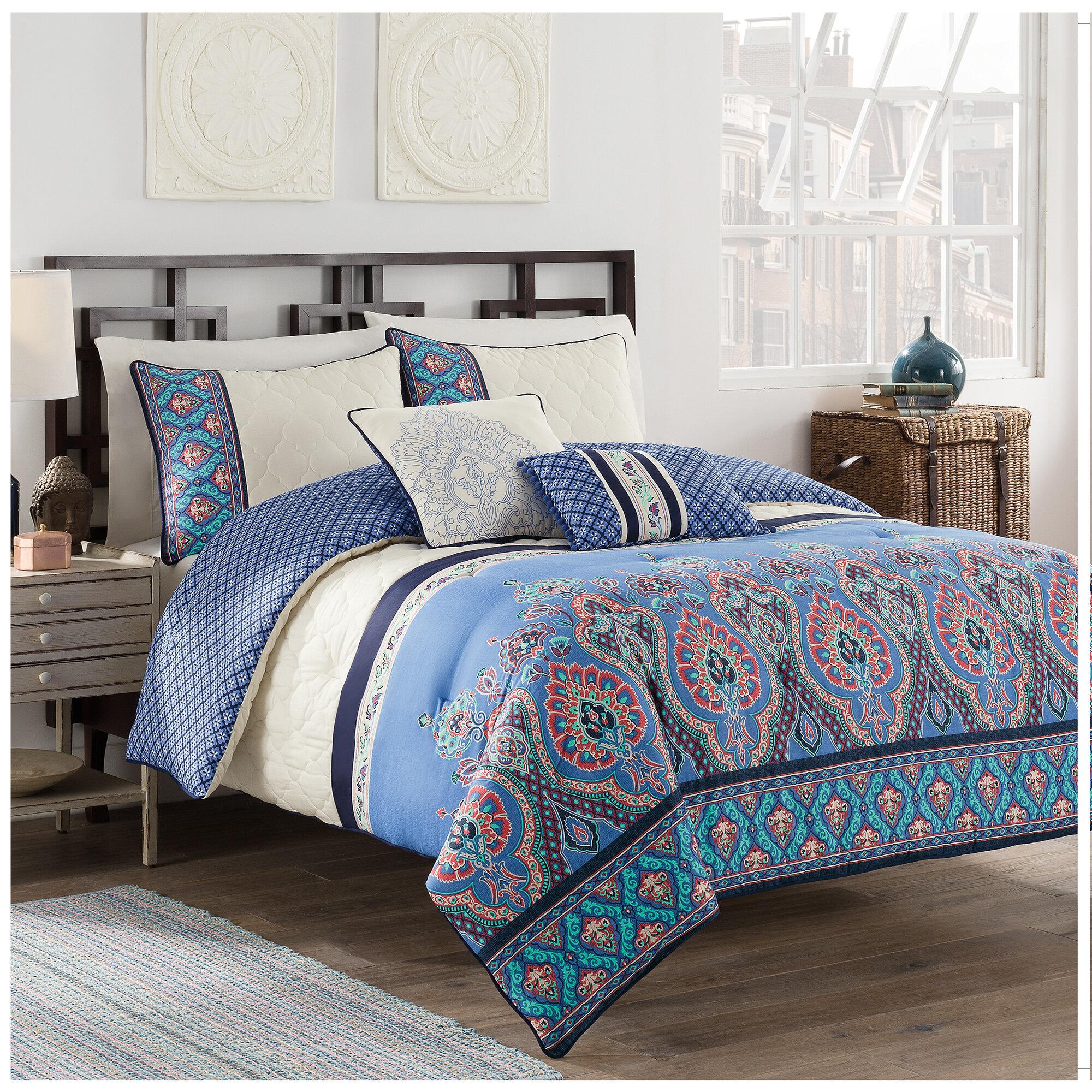 World Menagerie Nada 5 Piece Reversible Comforter Set Reviews Wayfair