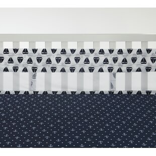 Order Secure Me Sailboats and Stripes Crib Bumper By Nautica