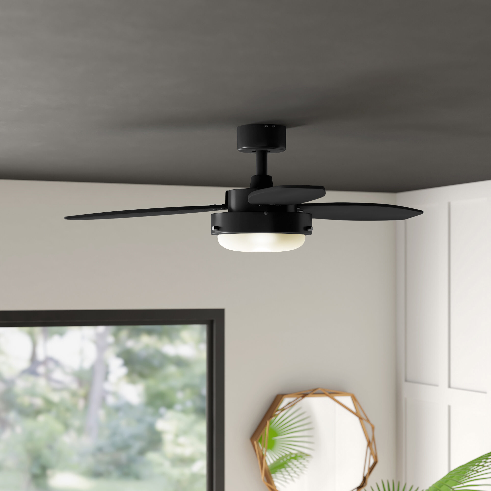 Mercury Row 42 Corsa 3 Blade Standard Ceiling Fan With Pull Chain And Light Kit Included Reviews Wayfair
