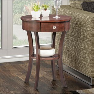 Purchase Moravian Classic Accents End Table with Storage By Alcott Hill
