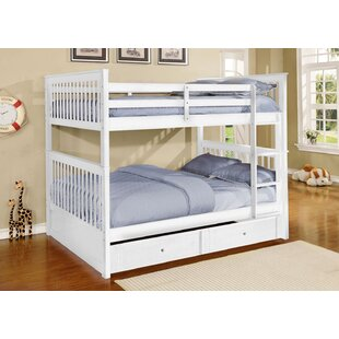 Harriet Bee Vicky Full Convertible Bunk Bed with Trundle and Drawers