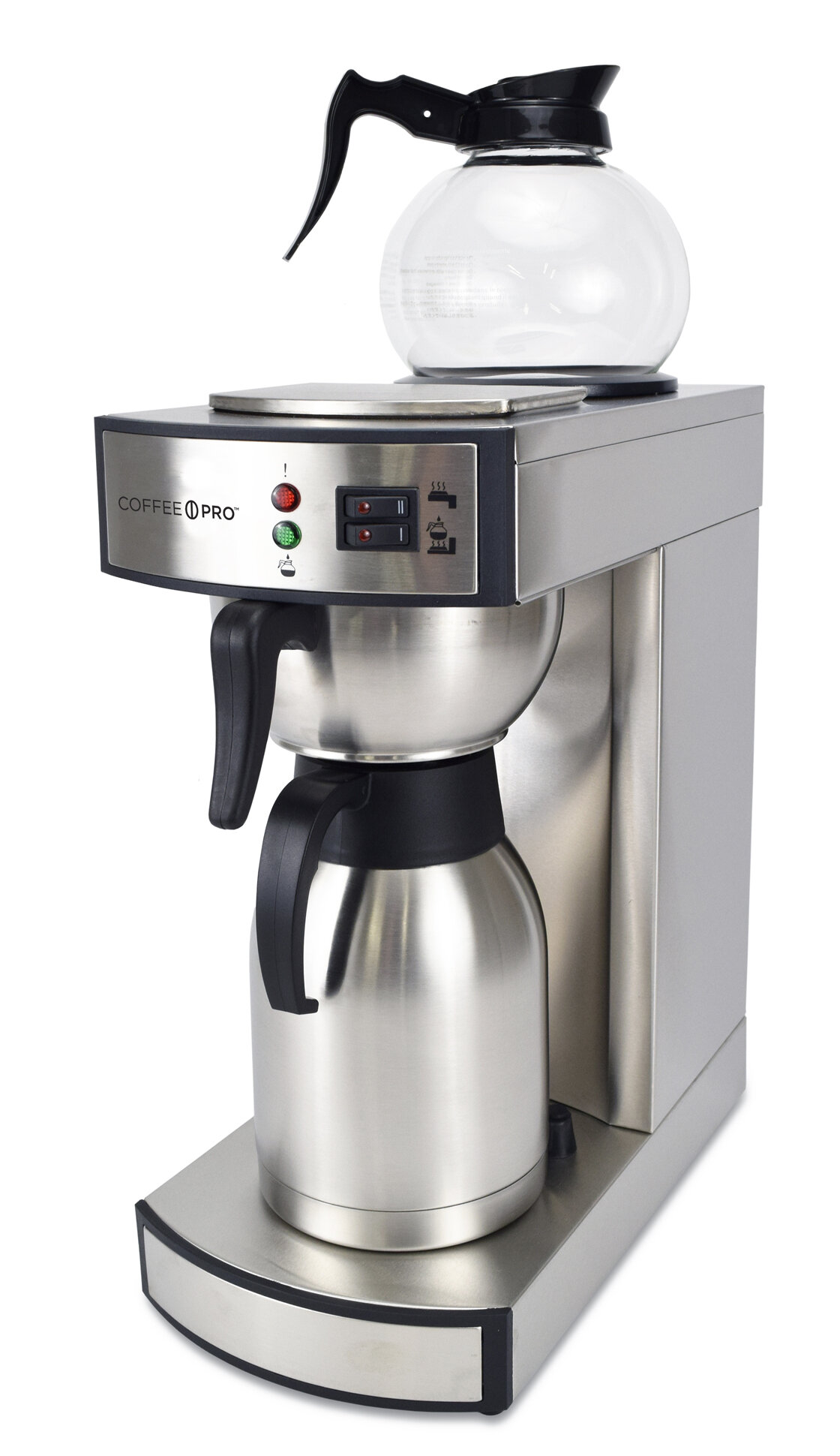 0f7d007c4f3a CoffeePro 10-Cup Dual Brew Commercial Thermal Decanter Coffee Maker ...