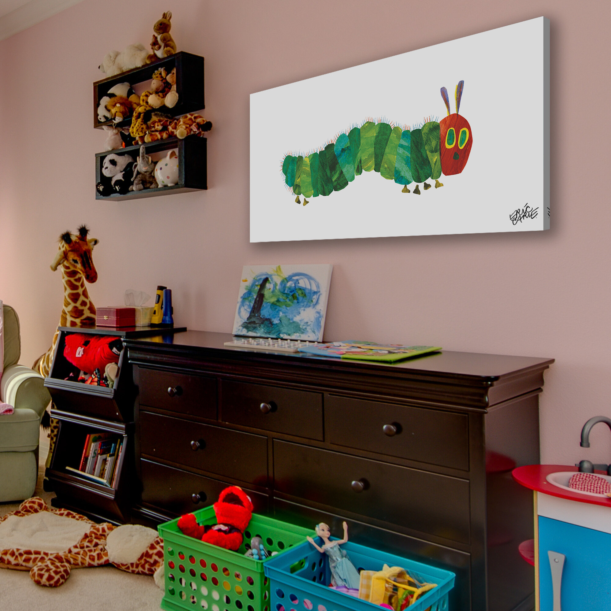 and Dots Canvas Wall Art Multi TM Fine Art for Kids Eric Carles The Very Hungry Caterpillar Oopsy Daisy