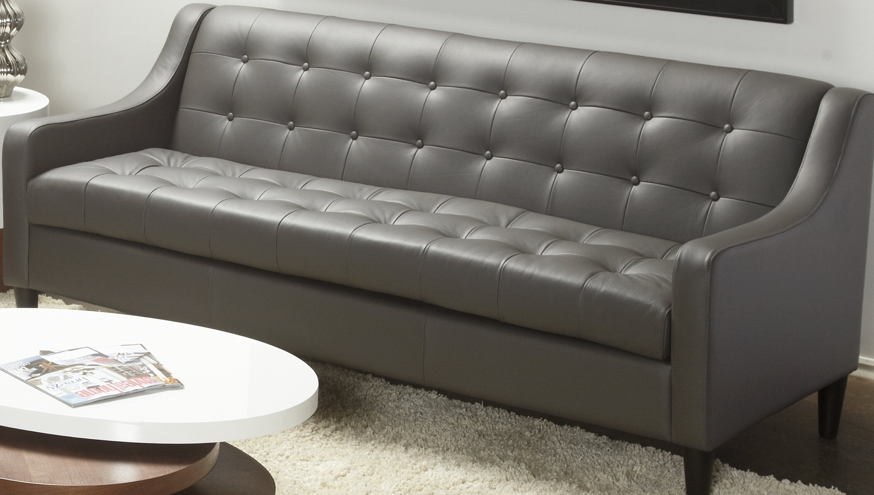 Lind Furniture Cameo Leather Sofa & Reviews | Wayfair