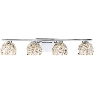 Check Prices Sherley 4-Light Vanity Light By Everly Quinn