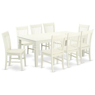 Beesley 9 Piece Solid Wood Dining Set DarHome Co