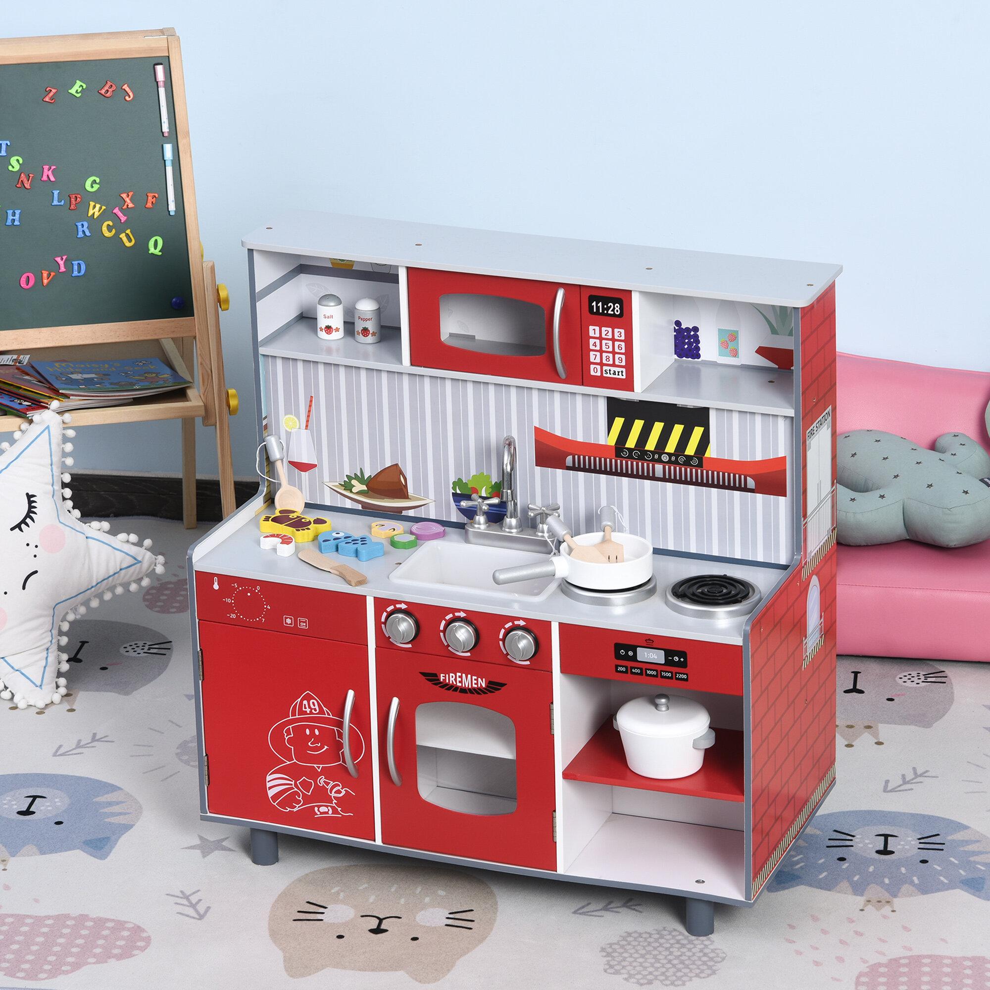 Qaba Kids Kitchen Set Wayfair
