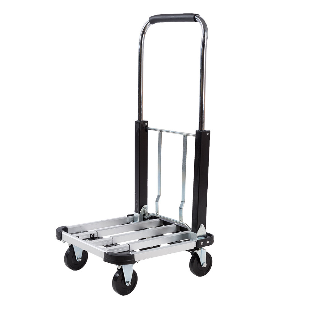 330lbs Aluminium Alloy Cart Folding Dolly Push Truck Hand Collapsible Trolley
