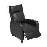 Ralon Faux Leather Glider Recliner with Massage by George Oliver