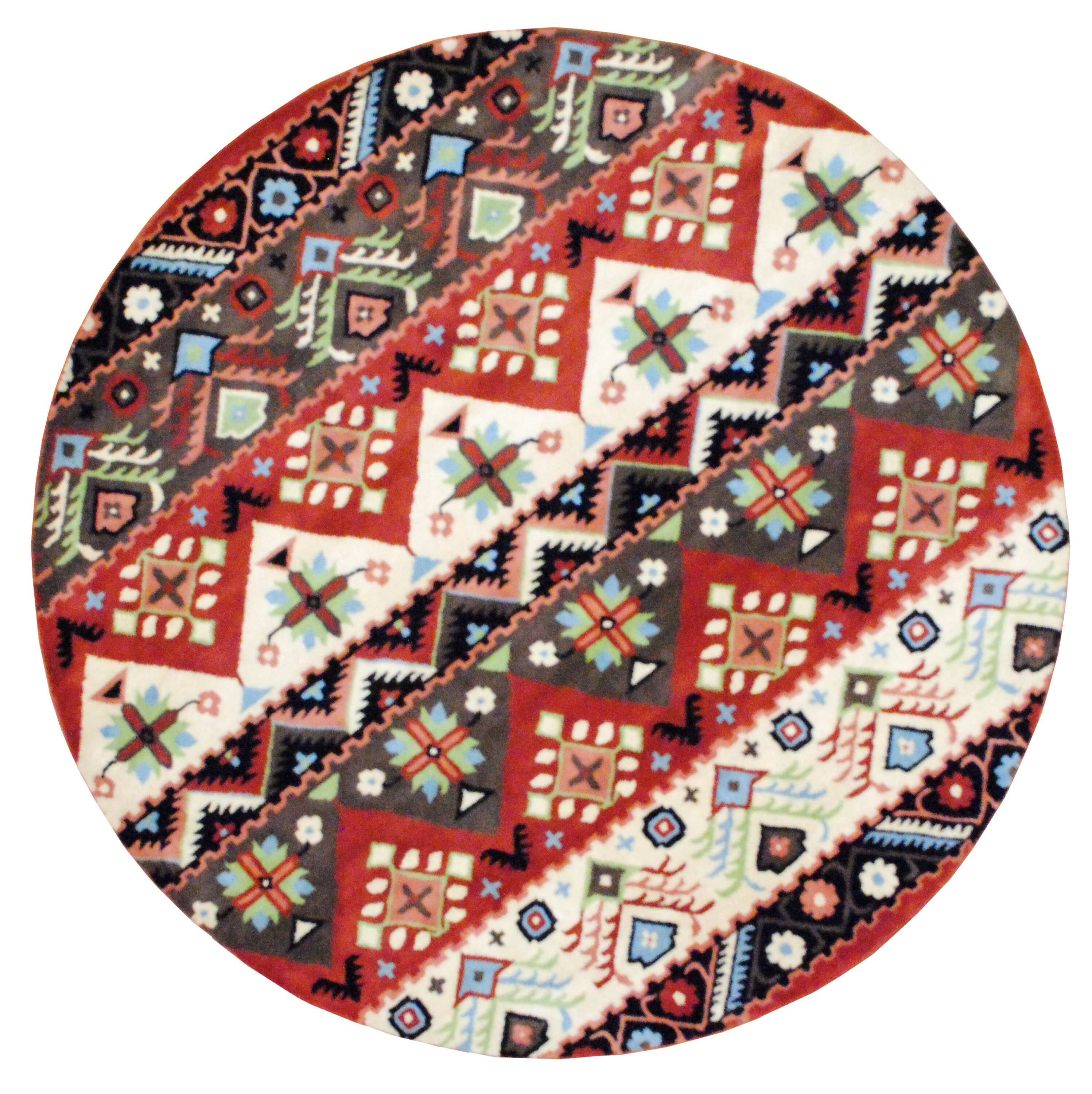Cheap Hand Tufted Beige Red Area Rug Furniture Online